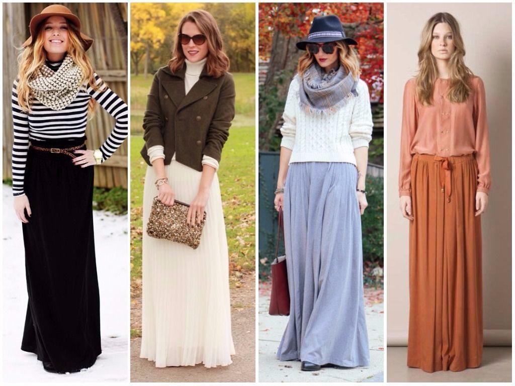 модные осенние юбки