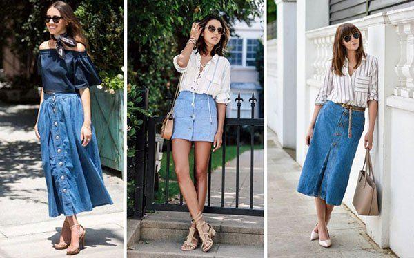 длина джинсовой юбки