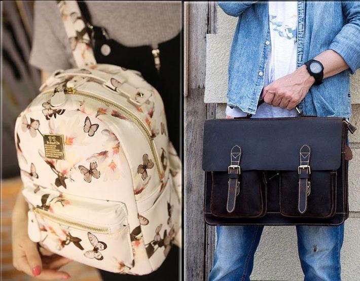 портфель и рюкзак
