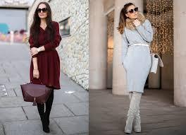 платье и ботфорты