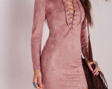 платье из искусственной замши 1