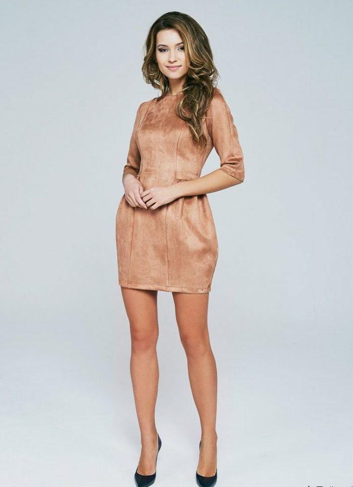 платье из искусственной замши 3