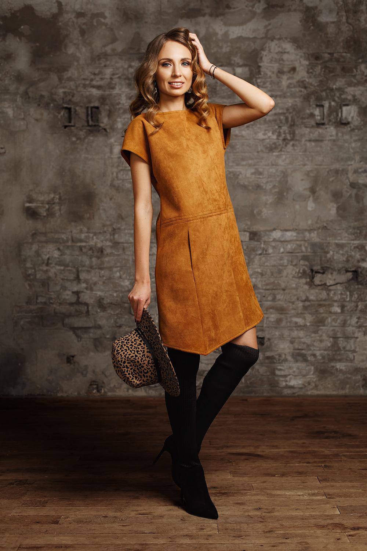 платье из искусственной замши 4