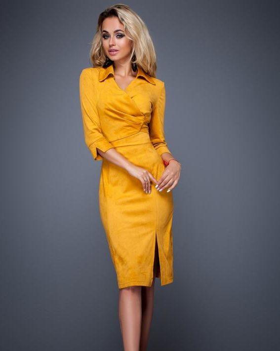 платье из искусственной замши 5