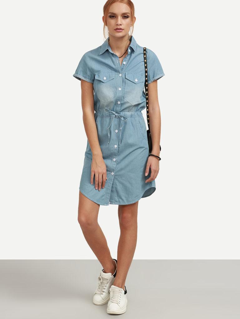 платье рубашка для худой