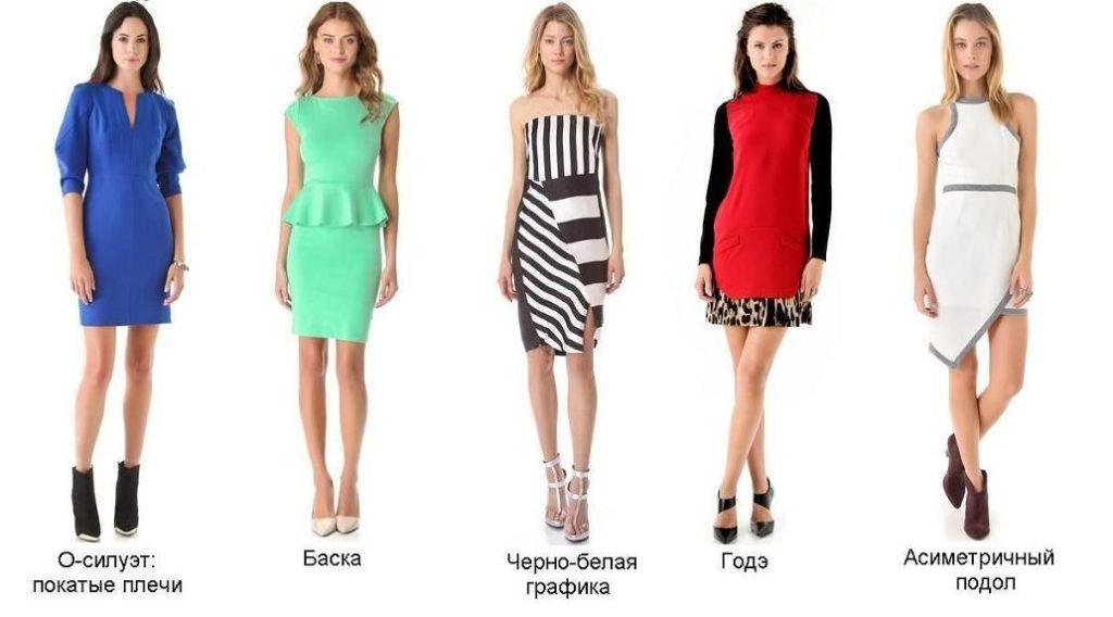 платья для прямоугольной ифгуры