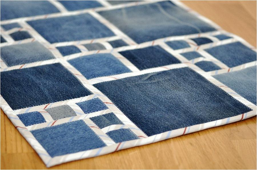 коврик из джинс