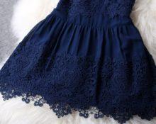 как пришить кружево к подолу платья