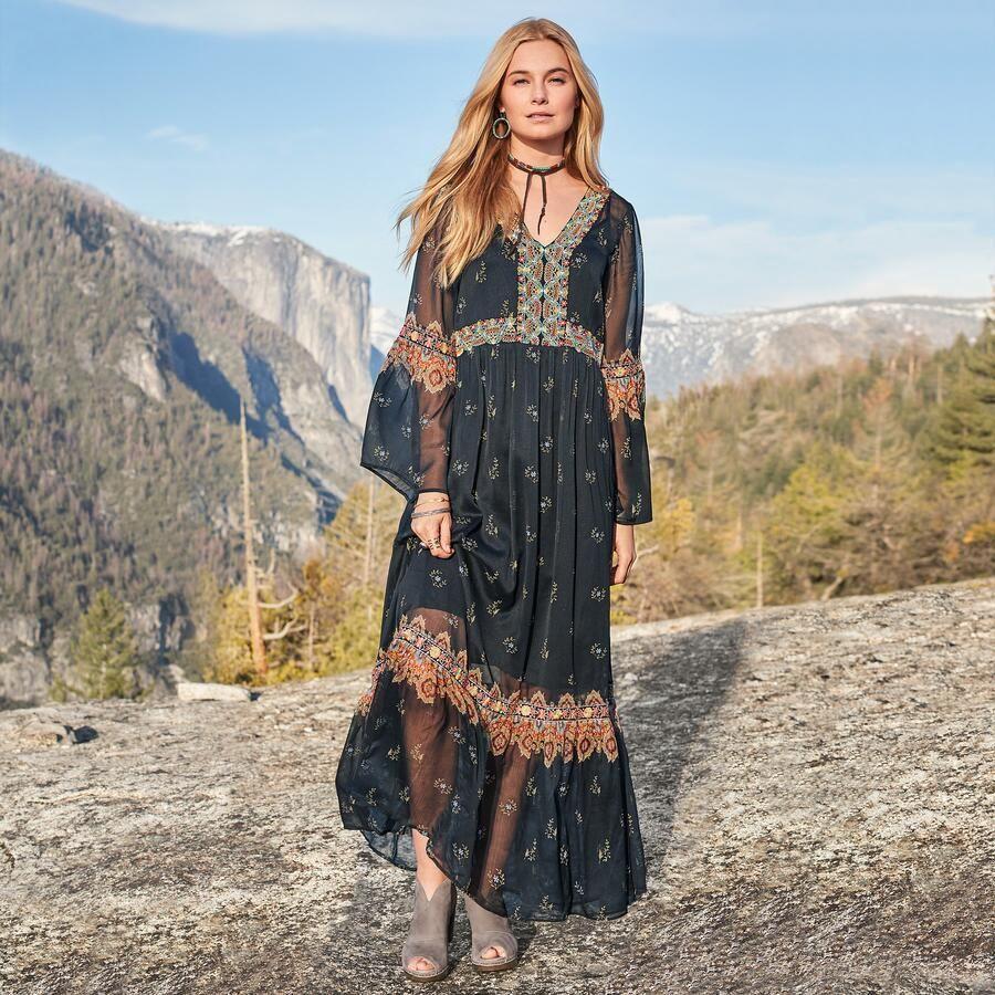 платье в стиле бохо хиппи