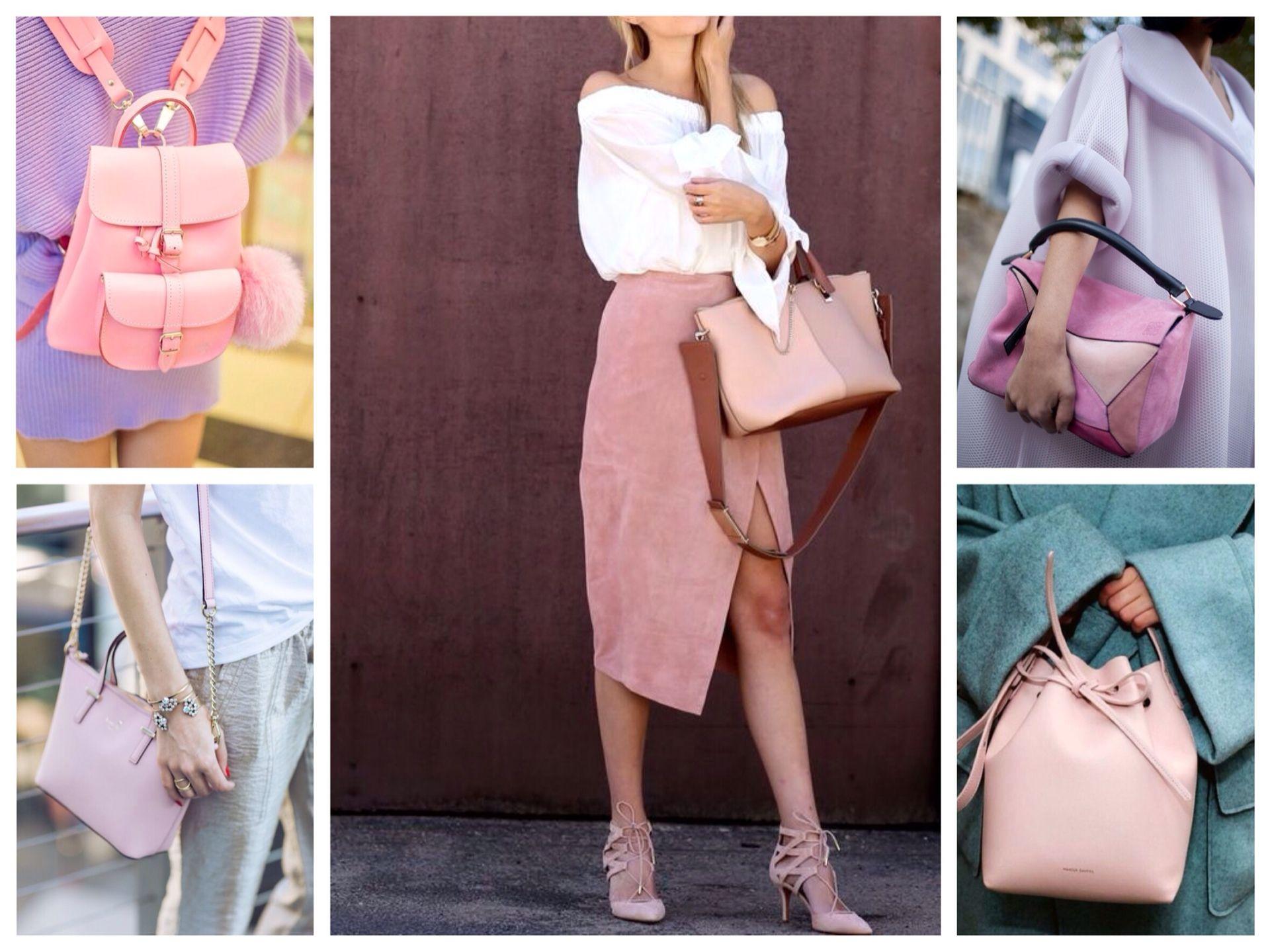 Разные модели розовых сумок