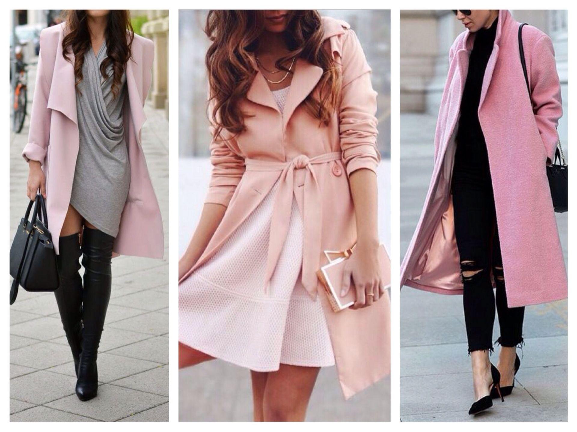 Розовая сумка весной и осенью