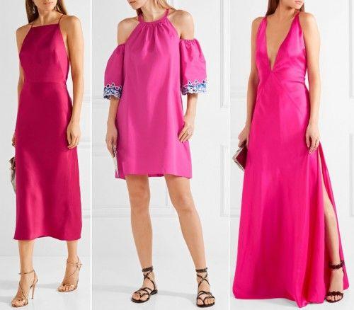 Ярко-розовые платья для молодежи