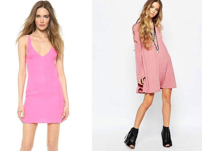 Светло-розовое платья