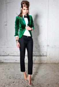 зеленый велюровый пиджак