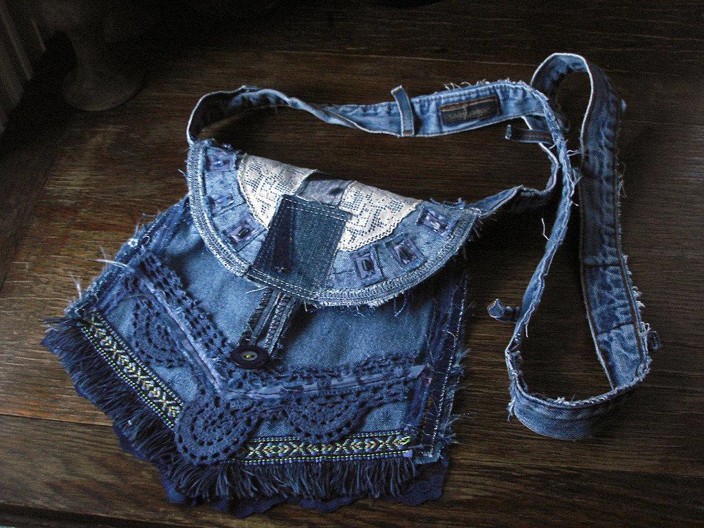 что сделать из старых джинс