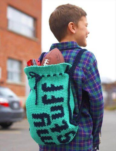 рюкзак крючком для мальчика