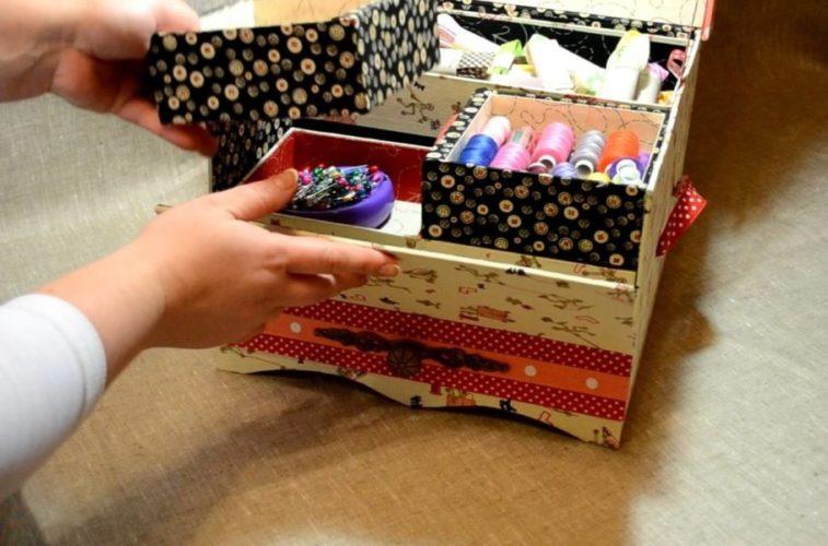 коробка органайзер для ниток