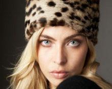 мутоновая шапка с леопардовым принтом