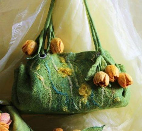 сумка из шерсти