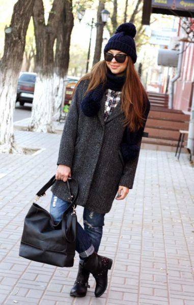 шапка к драповому пальто