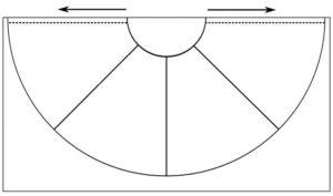 выкройка для юбки из атласных лент