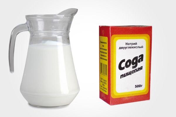 чистка замшевой сумки молоком с содой