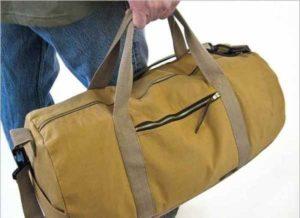спортивная желтая сумка