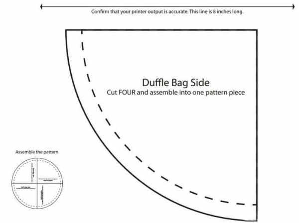 спортивная желтая сумка выкройка 2