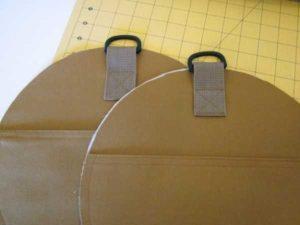 спортивная желтая сумка пришиваем крючки