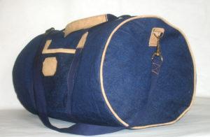 спортивная сумка синяя банан