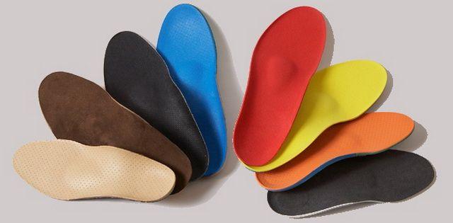 Разноцветные стельки для обуви
