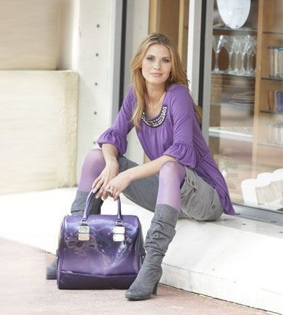 Фиолетовая сумка шоппер