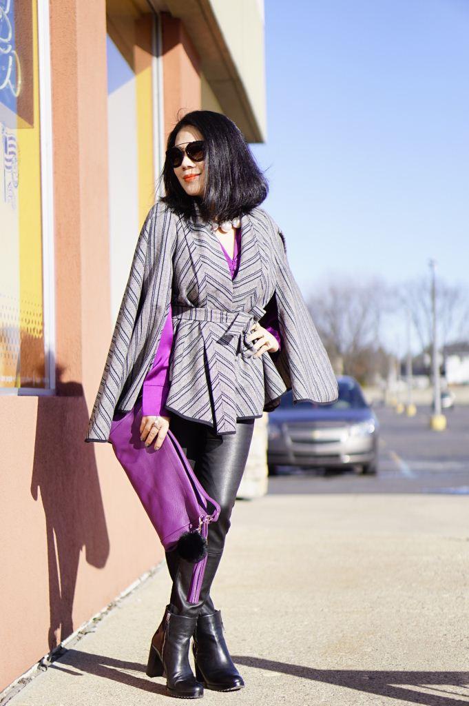 Фиолетовая сумка деловой стиль