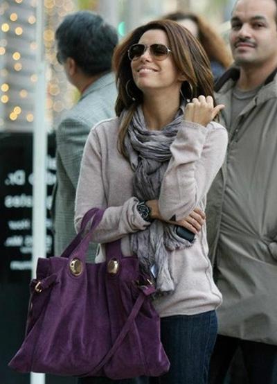 Фиолетовая сумка кэжуал стиль