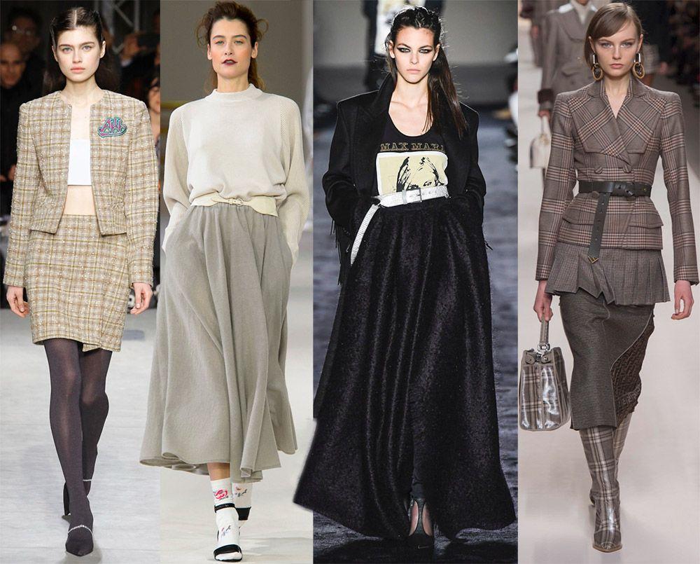 тёплые зимние юбки