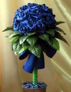 синий топиарий
