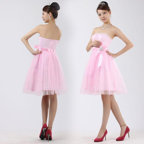 Воздушное розовое платье