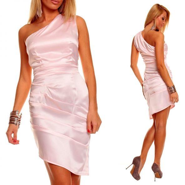 Розоватое платье с кофейными туфлями