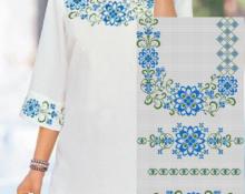 схема вышивки крестиком вензель для горловины платья