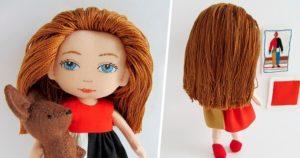 волосы из ниток для куклы