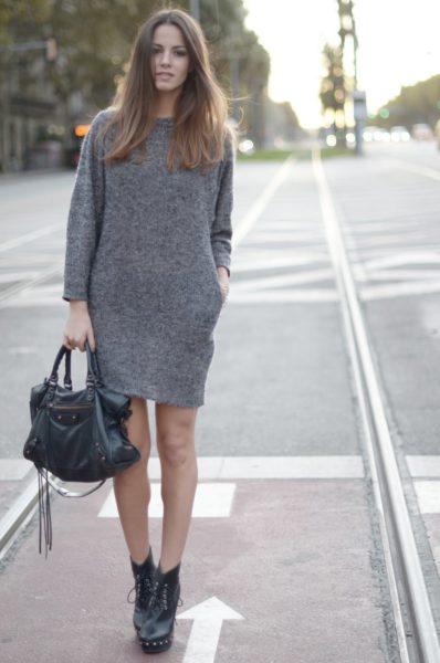 мини платье из шерсти