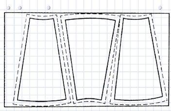 Раскладка на ткани клиньев