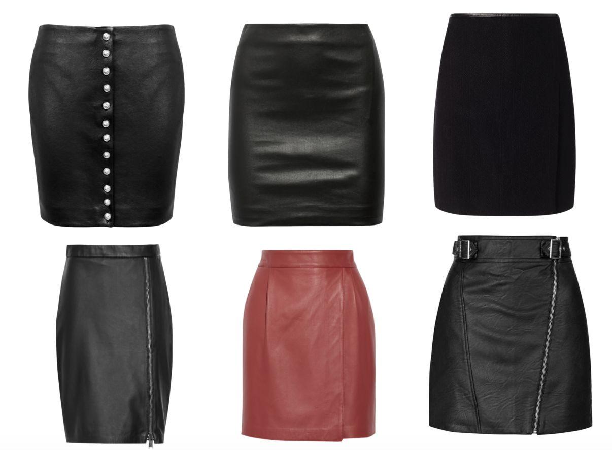 Фасоны кожаных юбок