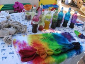Подготовка ткани для окрашивания
