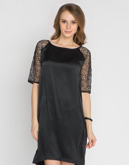 прямое шёлковое платье