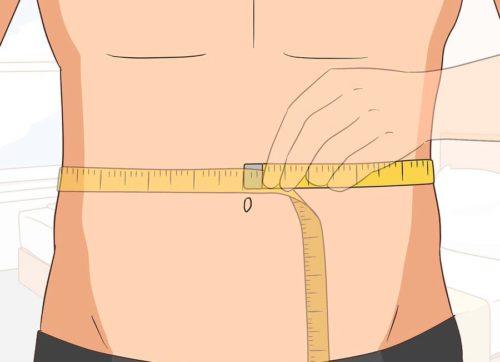 измерение талии у мужчин