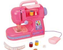 как заправить нитку в детскую швейную машинку