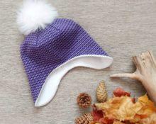 подклад из флиса для вязаной шапки выкройка
