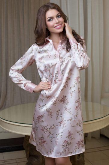 платье-рубашка из шёлка