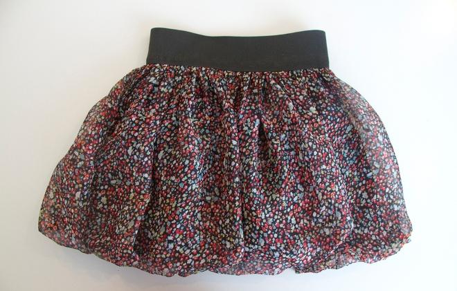простая юбка из шифона